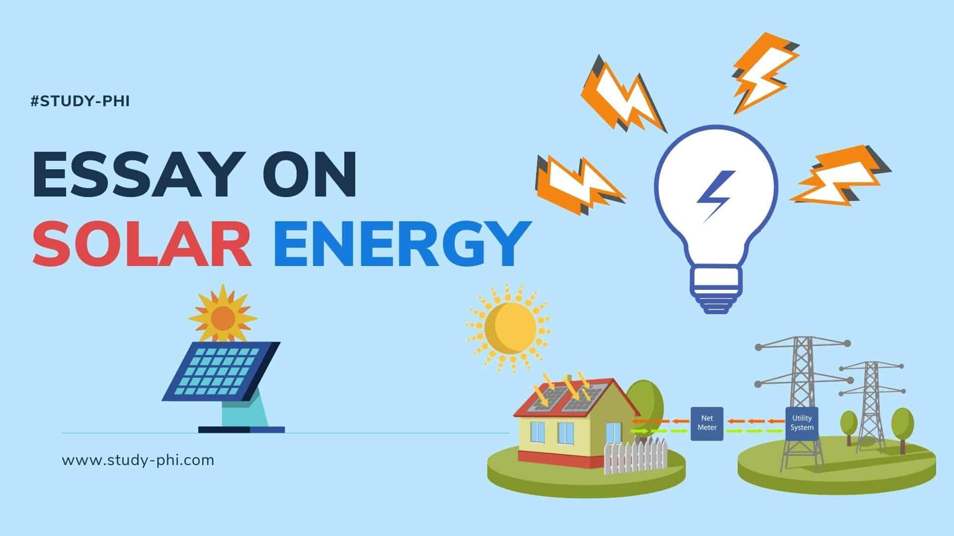 Essay on Solar Energy
