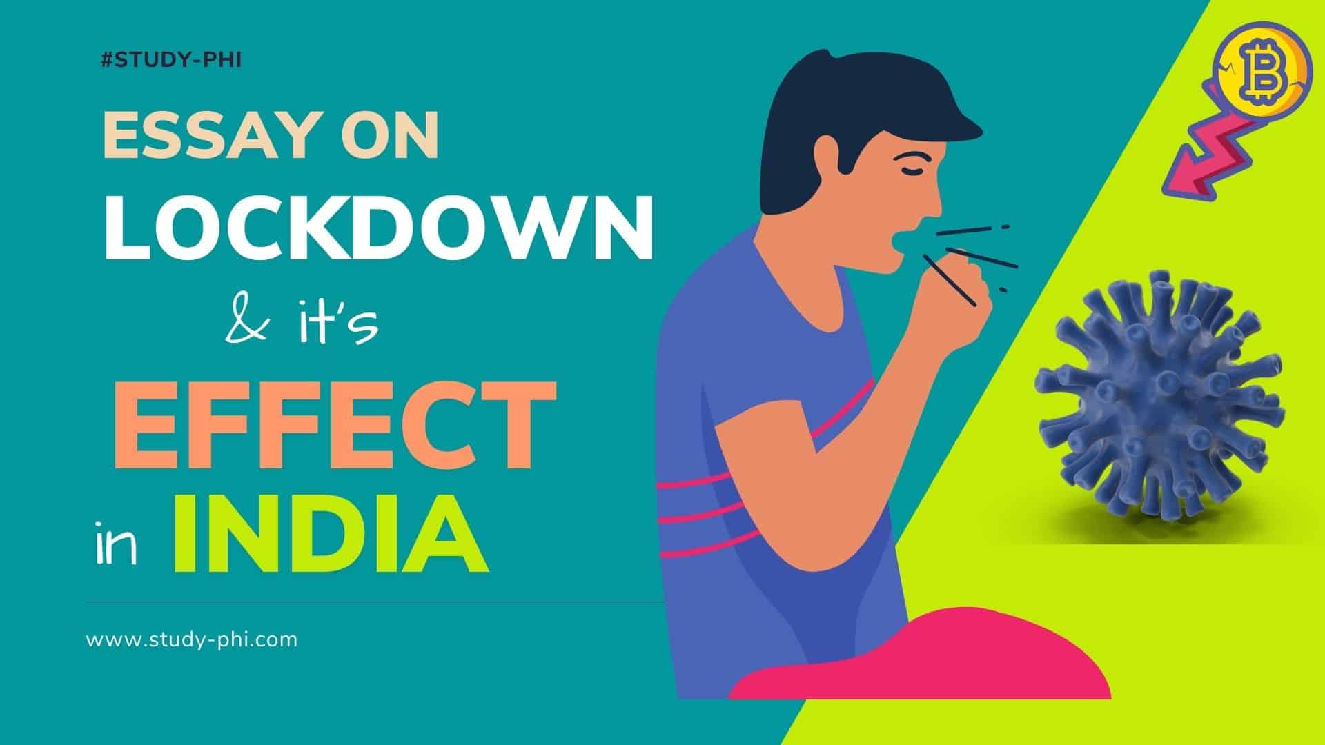 Essay on Lockdown its effect in India