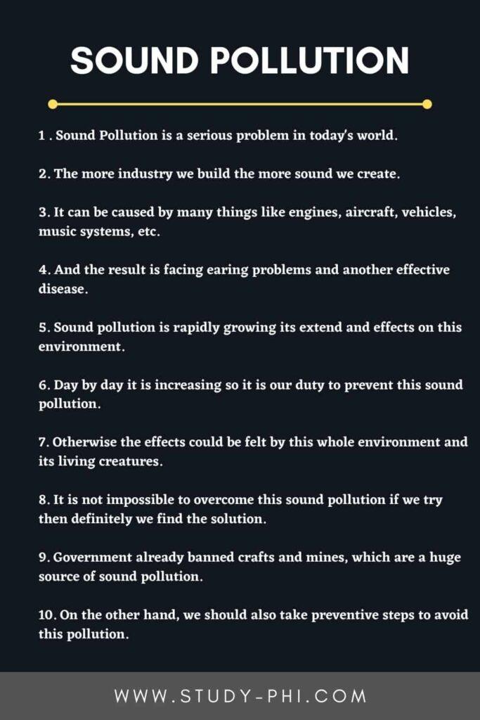 essay on sound pollution
