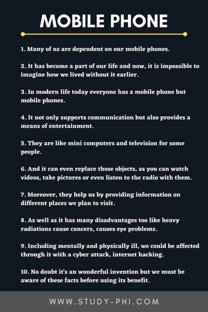 An Essay on Mobile Phone