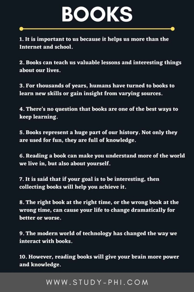 Essay on Why Books are Important