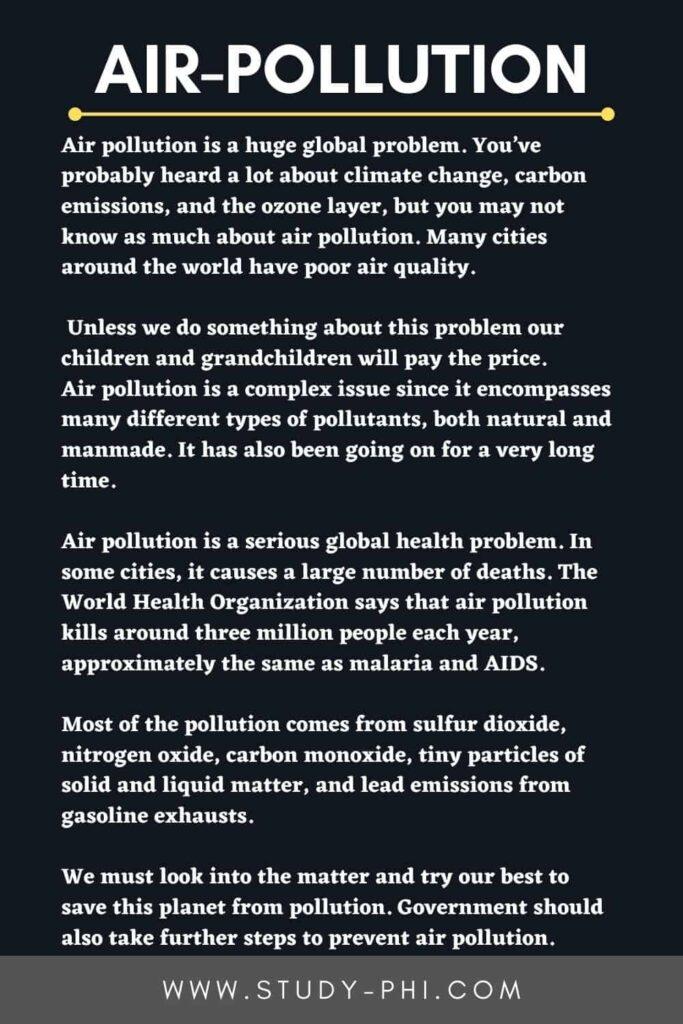 Essays on Air Pollution