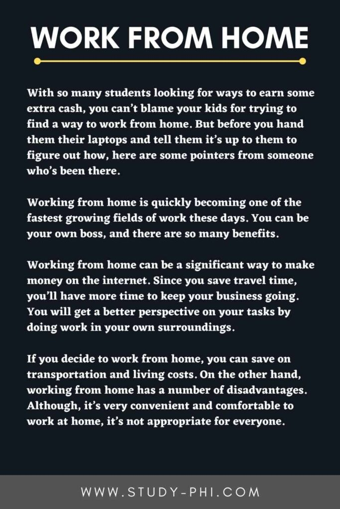 Work From Home Essay